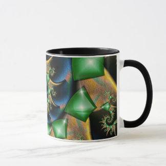 Emeralds on Satin Mug