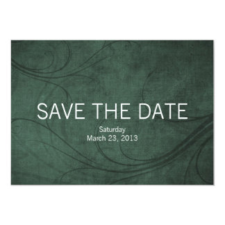 Emeraldtone 5x7 Photo Save the Date Wedding Cards