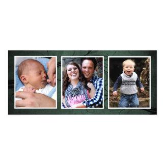 Emeraldtone Christmas Triple Photo Photo Cards