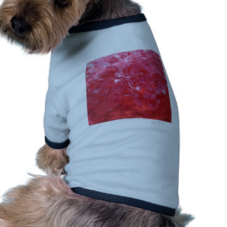 Emerge contemporary abstract carnation red floral doggie t-shirt