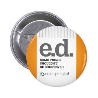 Emerge Digital - Short Pinback Button