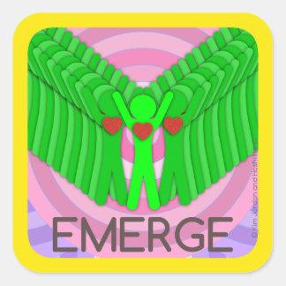 EMERGE - square sticker by Hoshi Hana & Kim Jordan