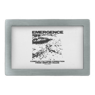 Emergence Complex Pattern Formation From Simpler Belt Buckle