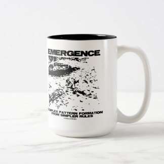 Emergence Complex Pattern Formation From Simpler Two-Tone Coffee Mug