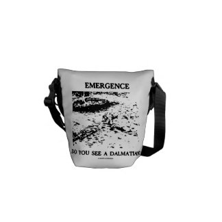 Emergence Do You See A Dalmatian? (Illusion) Courier Bag