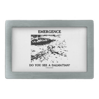 Emergence Do You See A Dalmatian? Optical Illusion Rectangular Belt Buckles
