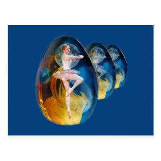 Emergence, Fantasy Fractal Ballerina Postcard