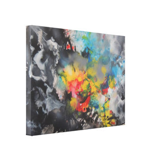 Emergence of Color Stretched Canvas Print