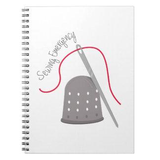 Emergencia de costura notebook