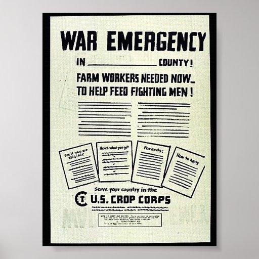 Emergencia de la guerra poster