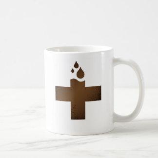 Emergencia del cafeína taza de café