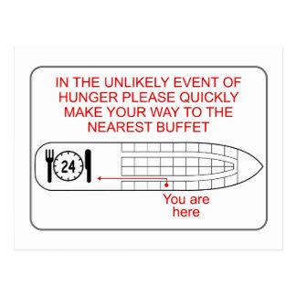 Emergencia del hambre tarjeta postal