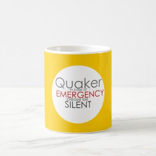 Emergencia del Quaker Taza Básica Blanca