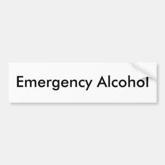 Emergency Alcohol Car Bumper Sticker