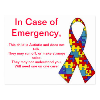Emergency Alert Stickers Postcards