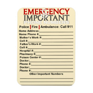 Emergency numbers magnets emergency numbers magnet designs for your