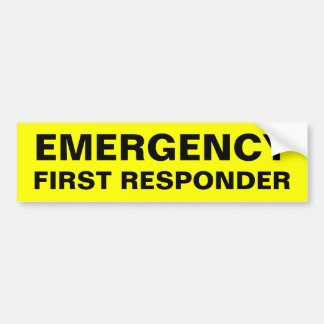 EMERGENCY BUMPER STICKER