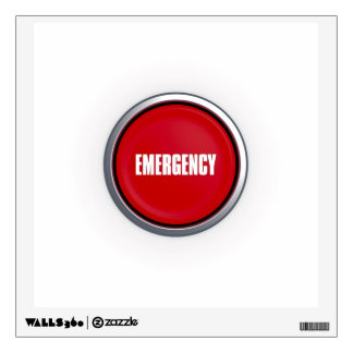Emergency Button Wall Decal