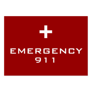 Emergency Cards Business Card Templates