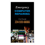 Emergency Computer Repairing Maintenance PC Master Double-Sided Standard Business Cards (Pack Of 100)