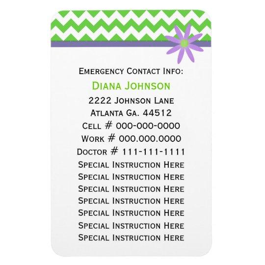 Emergency Contact Babysitter Premium Magnet Zazzle