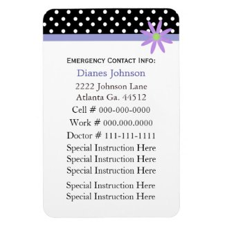 Emergency Contact: Babysitter Premium Magnet premiumfleximagnet