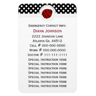 Emergency Contact: Ladybug And Polka Dot Magnet