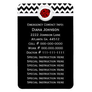 Emergency Contact: Ladybug Premium Magnet