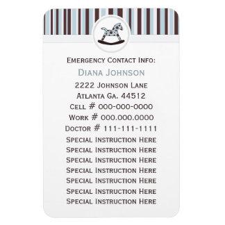 Emergency Contact: Rocking Horse Premium Magnet