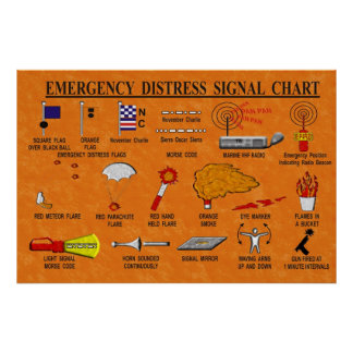 Emergency Distress Signal Chart