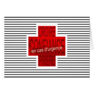 emergency, emergency, urgence card