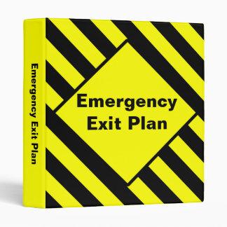 Emergency Exit Floor Plan Binder