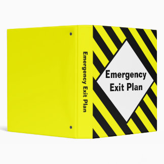 Emergency Exit Plan Binder