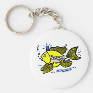 Emergency Fish with Blue Light Keychain
