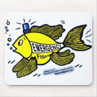 Emergency Fish with Blue Light Mouse Pad