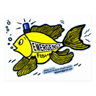 Emergency Fish with Blue Light Postcard