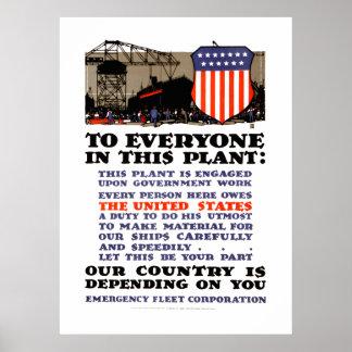 Emergency Fleet Corporation Combat Ships Poster