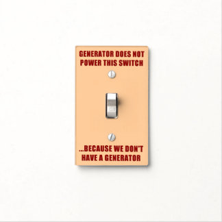 Emergency Generator Instructions Light Switch Cover