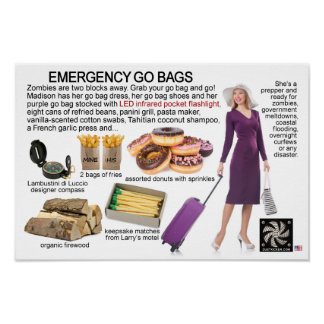 EMERGENCY GO BAGS POSTER