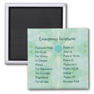 Emergency Information Scriptures for Encouragement 2 Inch Square Magnet