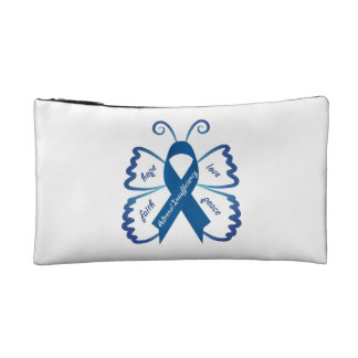 Emergency Kit Case: Awareness Butterfly Cosmetic Bag