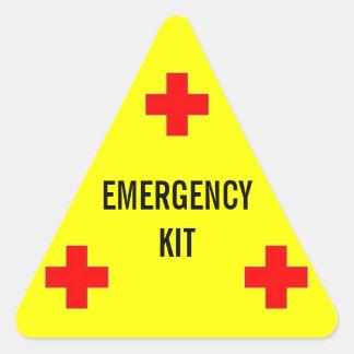 Emergency Kit Label Triangle Sticker