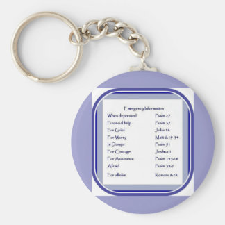 Emergency List of Scripture, Inspiration Keychain