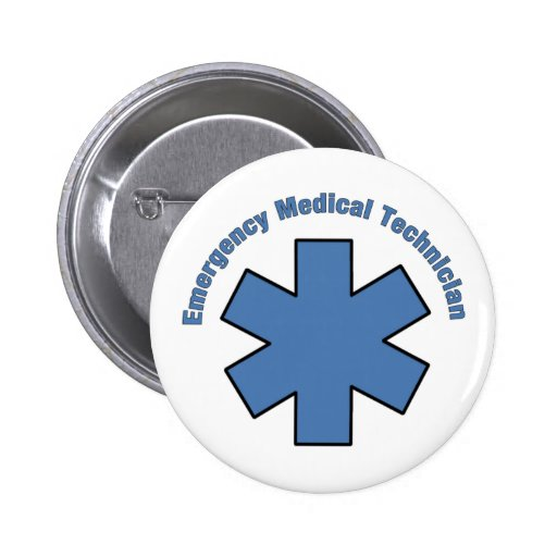 Emergency Med Tech 2 Inch Round Button