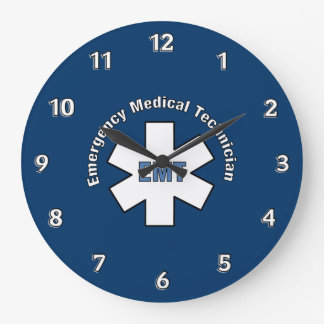 Emergency Med Tech Large Clock