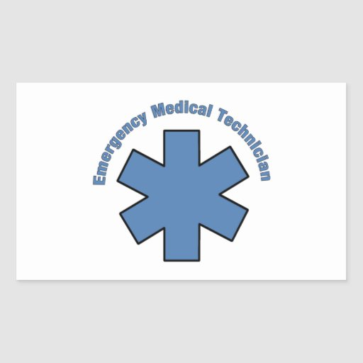 Emergency Med Tech Rectangle Stickers