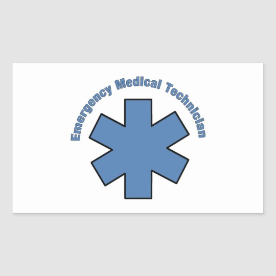 Emergency Med Tech Rectangular Sticker