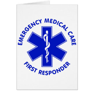 Emergency Medical Care First Responder Cards