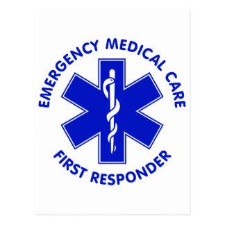 Emergency Medical Care First Responder Postcard
