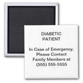 Emergency Medical Contact Phone Number Magnet